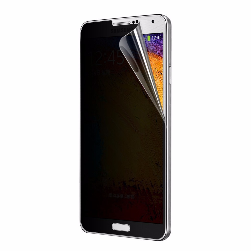 Factory supply privacy tempered glass screen protector for samsung note 5 with best service