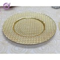 PZ00700 Wholesale wedding event gold glass under plates