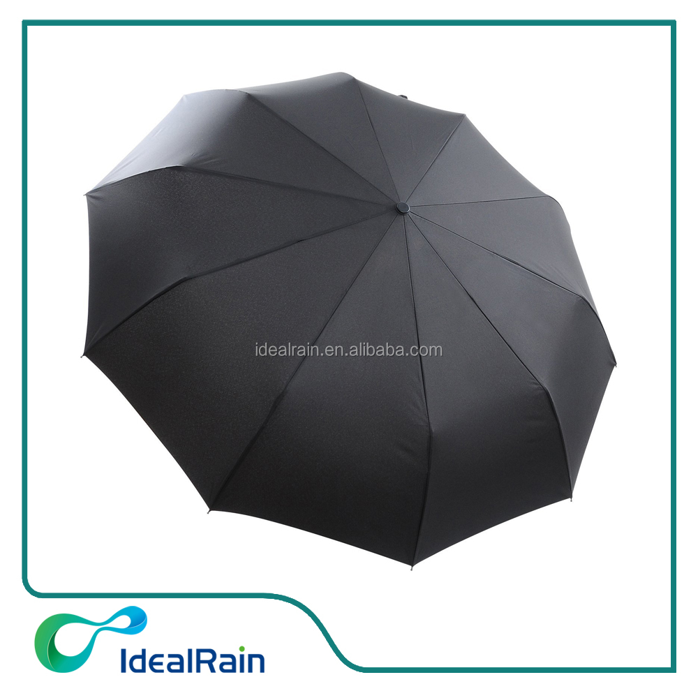 21inches automatic 10 ribs folding windproof top umbrella