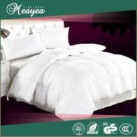 100% white duck feather quilt, old vintage cotton quilt textile, cotton fabric duck down quilt