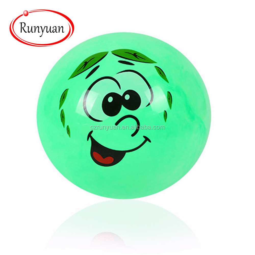 RUNYUAN Custom Colorful Jumping Toy Emoji Ball Mini&Inflatable Ball for Children
