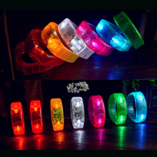 2017 Most Popular Multicolor Voice Activated Sound Control Led Flashing Wristband Bracelet for Night Club Activity Party