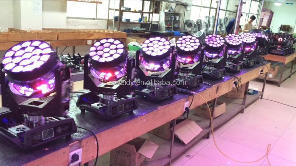 19pcs 15w b eye k10 RGBW 4 IN 1 bee eye led moving head light