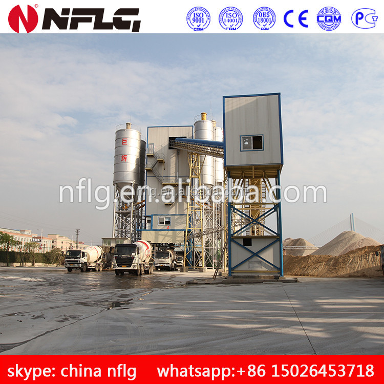 Manufacturing plant in china, HLS series ready mix concrete batching plant