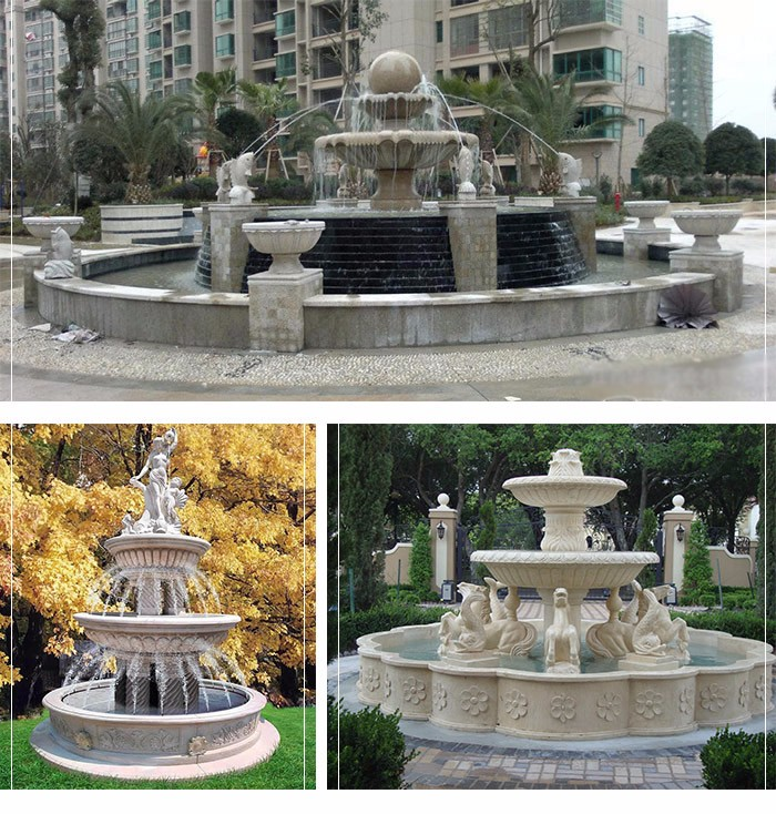 Outdoor large with Italian design for garden natural marble fountain statue