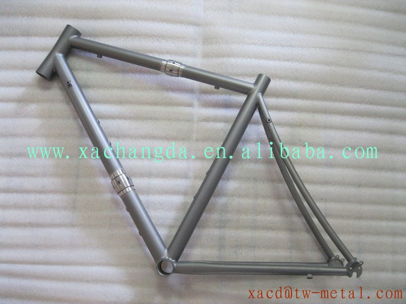 "Titanium cyclocross bike frame with S&S coupler custom Ti cyclocross bike frame XACD29""Ti cyclocross bike frame with S&S coupler"