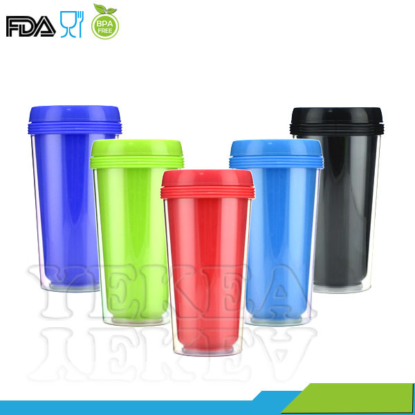 450ML Double wall custom printed coffee mug removable paper insert