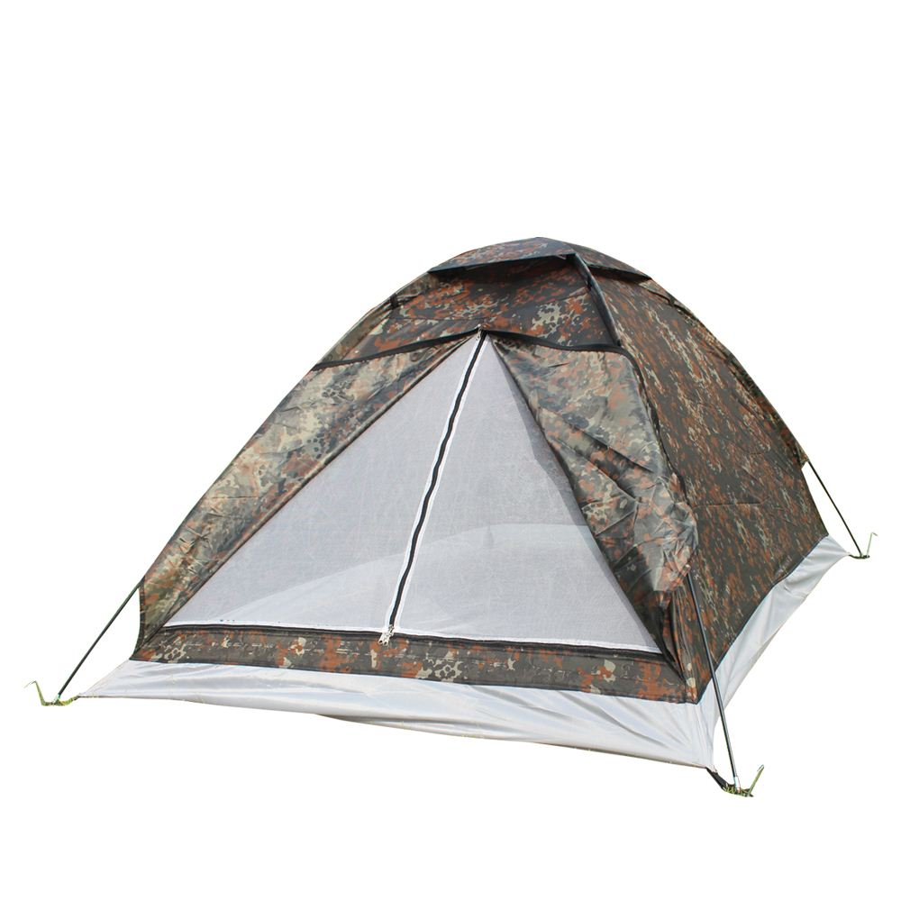 2016 Hot Sale 200*140*110cm Outdoor Portable Single Layer camping Tent Camouflage for 2 Person Waterproof Family Beach Tents