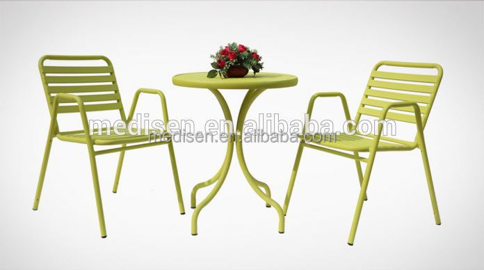 Ceramic Tile Patio Furniture High Top Table Set