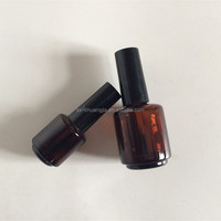 cosmetic amber nail polish glass bottle with lid