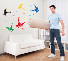funny removable & waterproof living room sticker/large decorative sport wall sticker