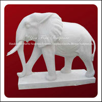 Decorative Great Marble Elephant Carving