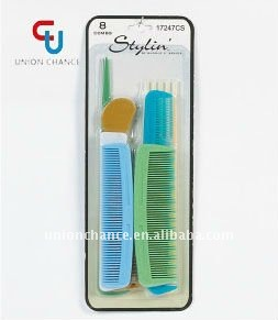 8pcs New Designed Plastic Hair Comb Sets Custom Order