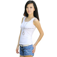 Cotton Spandex Stringer Tank Top Women