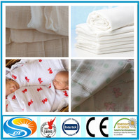 100% cotton fabric printed twin full queen king size baby muslin swaddle blanket