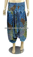 Ladies Bohomain Gini Baggy Boho Pant in Cotton Fabric with Elastic Waist