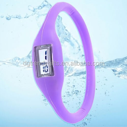 Men Women Fashion Sport Digital Watch South Korea Silicone Jelly ODM Anion Ion Wristband Watches