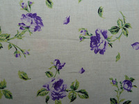 wholesale floral fabric and 60%linen 40%cotton printing fabric