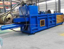 horizontal hydraulic fiber compactor waste cloth paper baling machine