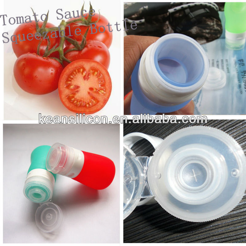 OEM 55ml Airline Approved Sizes Go Tube Packing Containers/BPA-Free Wide Mouth Salad Silicone Leakproof Soft Travel Bottles