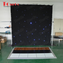 TourGo wholesale wedding aluminum led black drapes with pipe and drape kits cheap ceiling draping