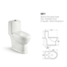 Popular chaozhou sanitary ware bathroom standard size water closet ceramic toilet