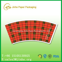9oz paper cup paper for flexo printing/customized design and logo pe coated paper cup sleeve