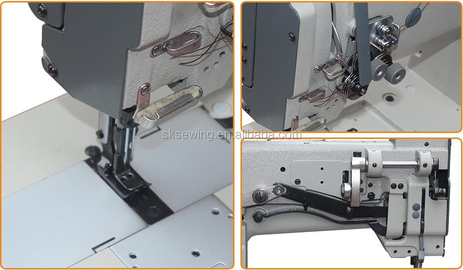 Heavy duty 4400 4420 compound feed flat bed double sewing machine
