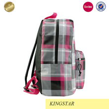 Cheap OEM foldable canvas leather rucksack backpack school