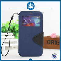 LZB Fashion color contrast series view windows premium for Samsung G357 back leather case