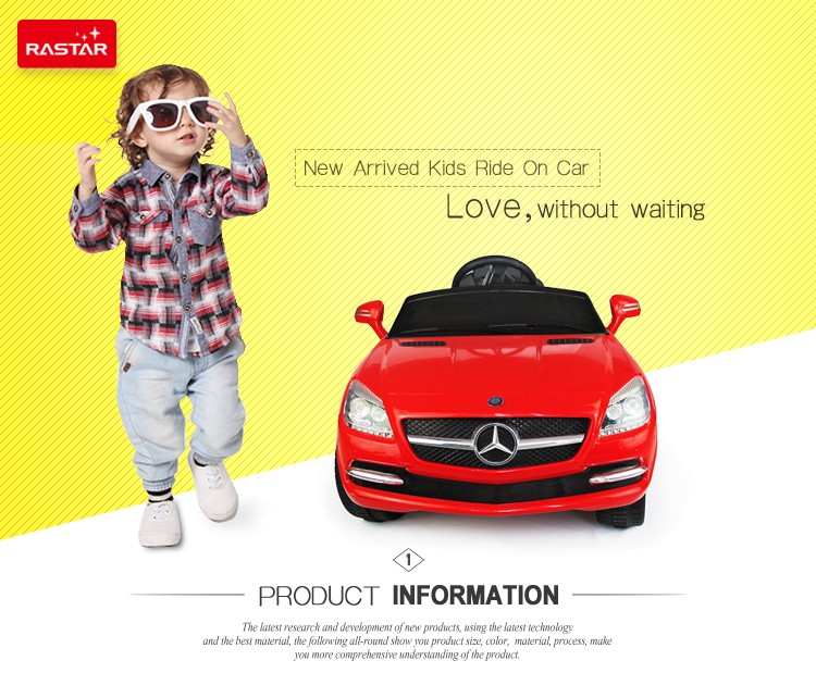 Remote Control Baby Car Rastar Mercedes-SLK ride on car for kids 81200