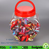 Food Grade Clear PET Jars with Lids for Candy heart shape , Sugar Jars