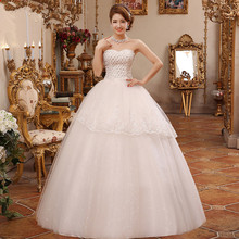ZH1181D Stylish High grade fashion lace boob tube top elegant wedding dress