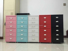mini Korea design movable steel waterproof storage cabinets with 6 drawer