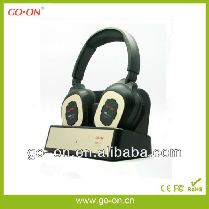 Digital USB 2.4G wireless headset with microphone for both TV and PC