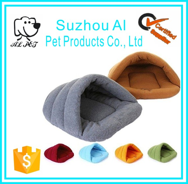 Pet Bed Luxury Half Covered Soft Cozy Sleeping Bag Mat Warm House Cave Dog Bed