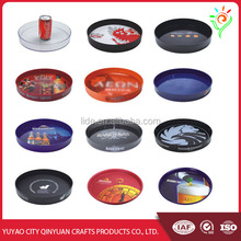Promotional round plastic large serving tray