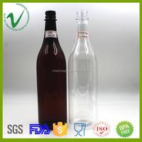 China supplier round 1liter PET wine plastic beer bottles wholesale in shenzhen