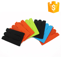 Colorful Customized Silicone phone case with business card holder