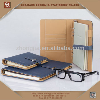 Brief Style PU Leather Notebook