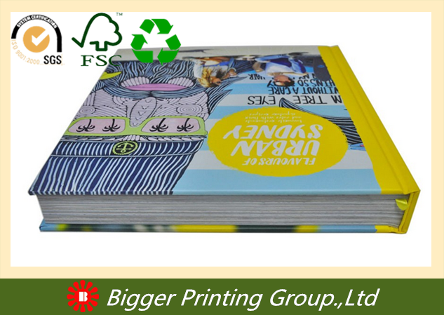 Professional custom hot stamping cheap elegant promotional custom hardcover book