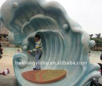3D wave sculpture for Water Play Equipment