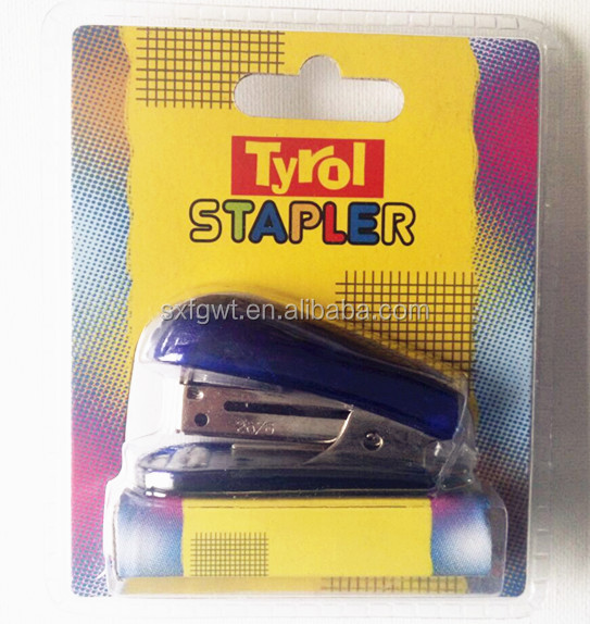Mini stapler set/ plastic stapler set with staples