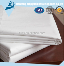Polyester 75D 90gsm White Hotel Bedding Set Fabric