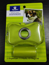 pet waste bags with cloth dispenser