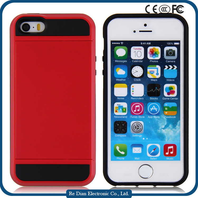 Factory Price Wholesales High Quality Shockproof Mobile Phone PC+TPU Case for Iphone5 with Multiple Colors for Option