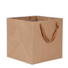 custom wholesale packaging custom kraft print with logos paper bag
