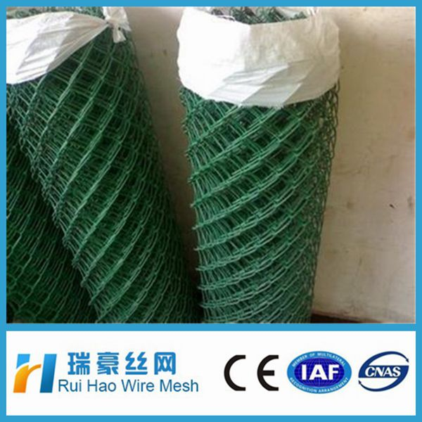 weave mesh PVC coated iron wire chain link fence