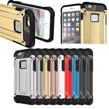 2017 New Top Sale Hybrid PC + TPU Hard Armor Case for iPhone 6/6S,Back Cover for iPhone 6 /6S