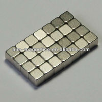 2013 New Strong Block NdFeB N45 Magnet For Fridge NiCuNi-plated
